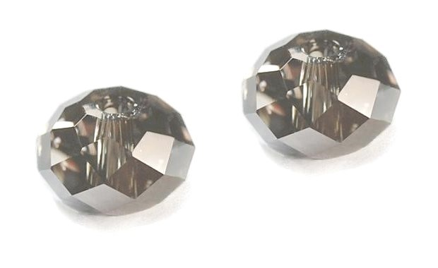 Swarovski 5040 Rondelle  6 mm Silver Night