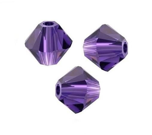 Swarovski Bicone 4 mm Purple Velvet -10 szt