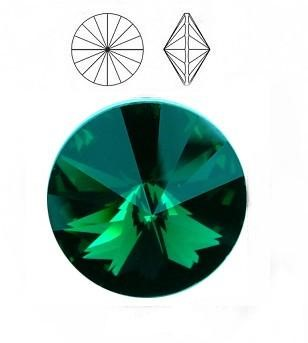 Swarovski 1122 Rivoli 10 mm Emerald