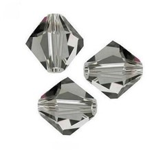 Swarovski Bicone 4 mm Black Diamond - 10 szt